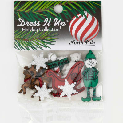Dress It Up Embellishment Buttons  North Pole