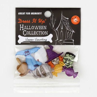Dress It Up Embellishment Buttons  Happy Haunting
