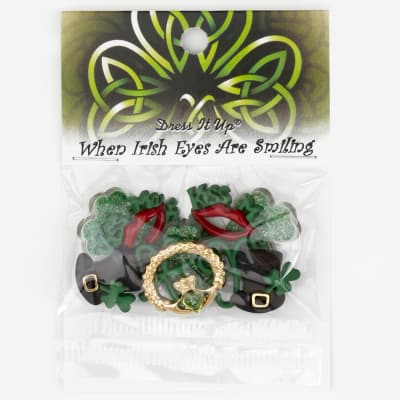 Dress It Up Embellishment Buttons  When Irish Eyes Are Smiling