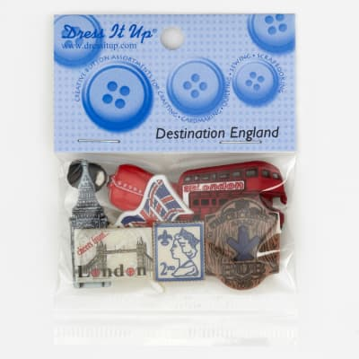 Dress It Up Embellishment Buttons  England