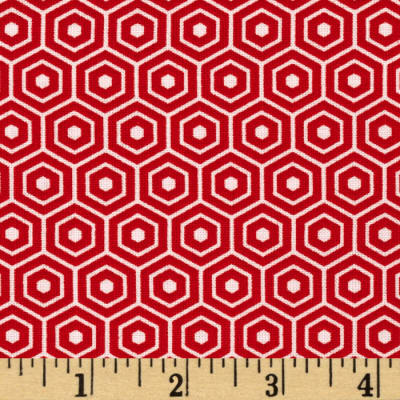 Riley Blake Lost and Found 2 Hexagon Red
