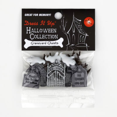 Dress It Up Embellishment Buttons  Graveyard Ghost