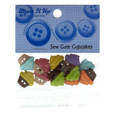 Dress It Up Embellishment Buttons  Sew Cute Cupcakes
