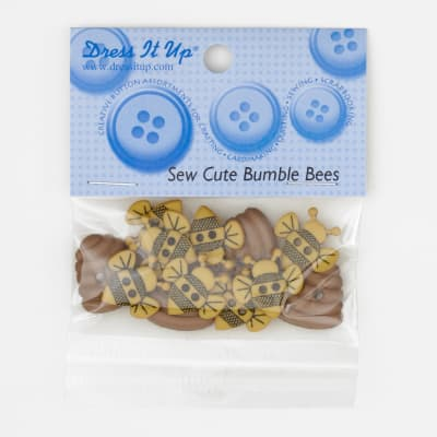 Dress It Up Embellishment Buttons  Sew Cute Bumble Bees