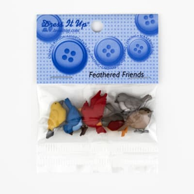 Dress It Up Embellishment Buttons  Feathered Friends