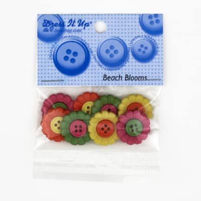 Dress It Up Embellishment Buttons  Beach Blooms