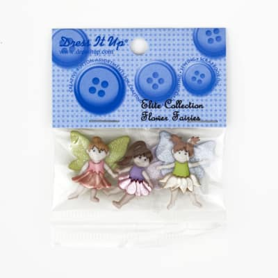 Dress It Up Embellishment Buttons  Flower Fairies