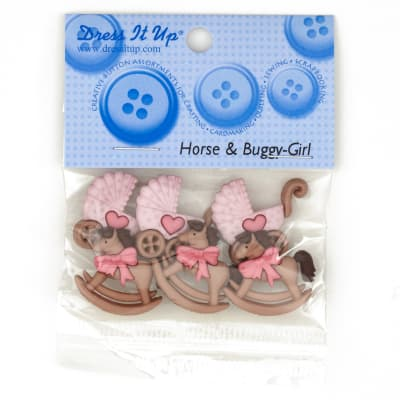 Dress It Up Embellishment Buttons  Horse & Buggy Girl