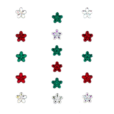Dress It Up Embellishment Buttons 10mm Holiday Petals