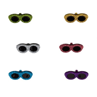 Dress It Up Embellishment Buttons  Glitter Sunglasses