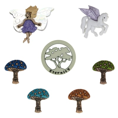 Dress It Up Embellishment Buttons  Mythical