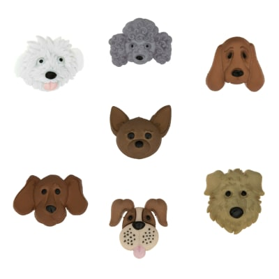 Dress It Up Embellishment Buttons  Fuzzy Faces