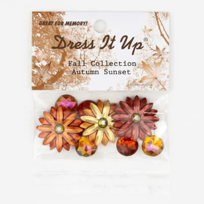 Dress It Up Embellishment Buttons  Autumn Sunset