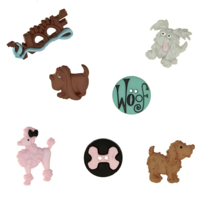 Dress It Up Embellishment Buttons  Party Animals