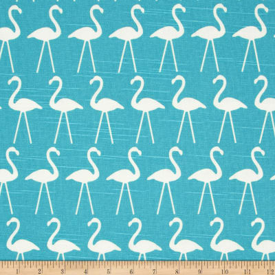 Premier Prints Flamingo Slub Coastal Blue