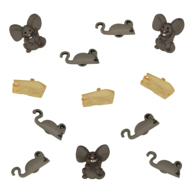 Dress It Up Embellishment Buttons  Mice & Cheese