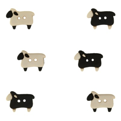 Dress It Up Embellishment Buttons  Sheep