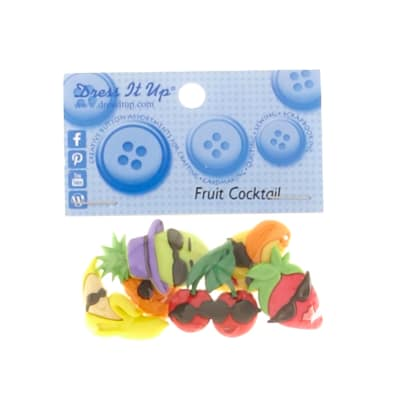 Dress It Up Embellisment Buttons  Fruit Cocktail
