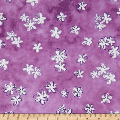 Daisy Love Flannel Daisies Small Purple