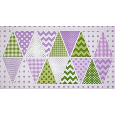Riley Blake Holiday Banners Panel Easter Purple