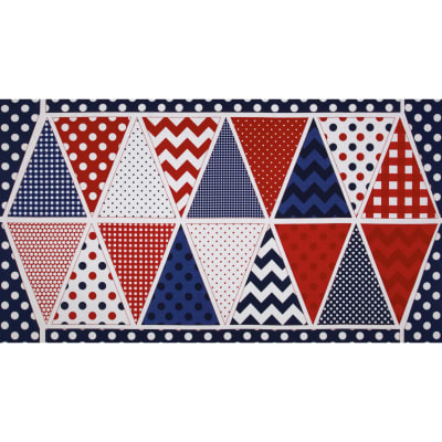 Riley Blake Holiday Banners Panel Patriotic Blue