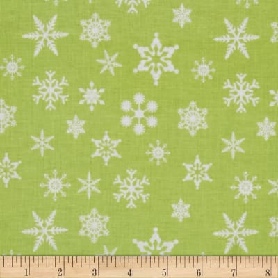 Riley Blake Holiday Snowflakes Green