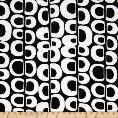 Kaufman Artisan Batiks Pop Op Circle Stripe Black