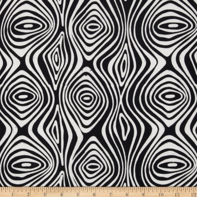 Artisan Batiks Pop Op Tree Ring Black