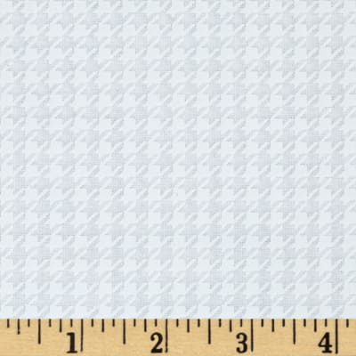Moda Muslin Mates Houndstooth White