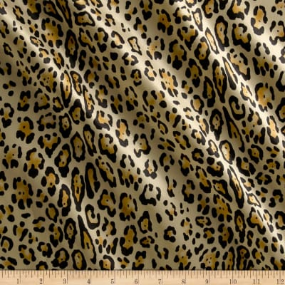 Charmeuse Satin Baby Leopard Gold