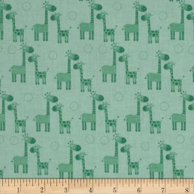 Riley Blake Giraffe Crossing Giraffe Trees Teal