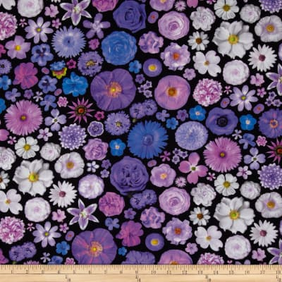 Bloominescent Digital Scattered Floral Purple