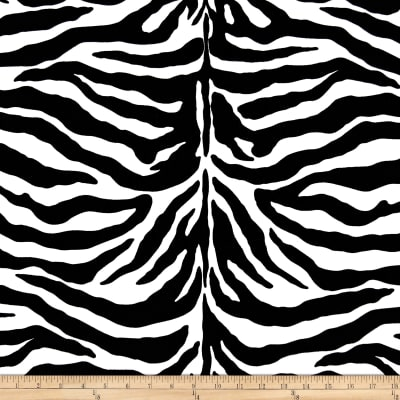 Poly/Cotton Twill Zebra Print Black/White