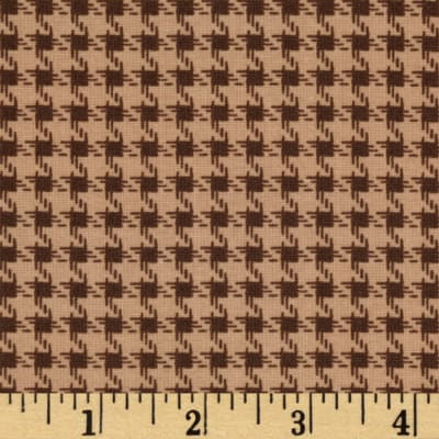 Riley Blake Round Up Houndstooth Brown