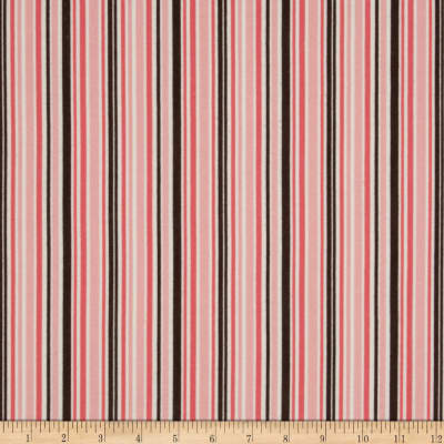 Riley Blake Round Up Flannel Stripe Pink