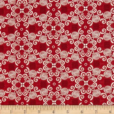 Gingerbread Christmas Scroll Red