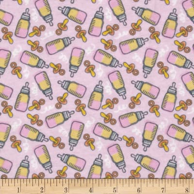 Bundle Of Joy Flannel Bottles of Joy Light Pink
