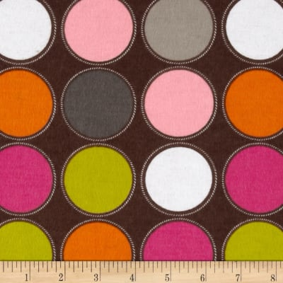 Flannel Large Dots Brown