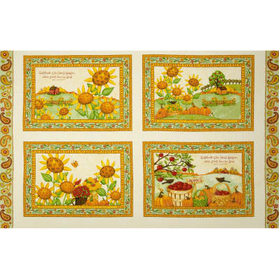 Harvest At Millbrook Farm Placemat 29'' Panel Multi