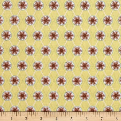 Cottage Charm Medallion Trellis Yellow