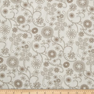 """110"""" Wide Quilt Backing Signature White/Taupe"""