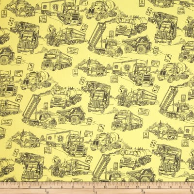 "110"" Wide Quilt Back Mighty Movers Yellow"