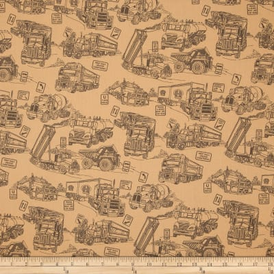 "110"" Wide Quilt Back Mighty Movers Taupe"