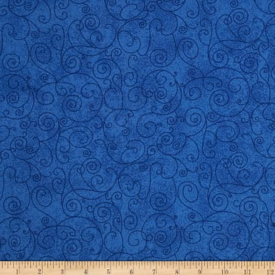 "Westrade 110"" Wide Flannel Quilt Back Willow Royal"