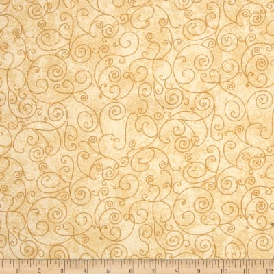 """Westrade 110"""" Wide Flannel Quilt Back Willow Ivory"""