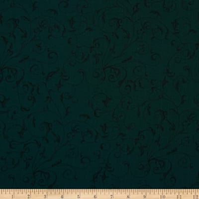 "110"" Wide Quilt Back Filigree Teal/Black"