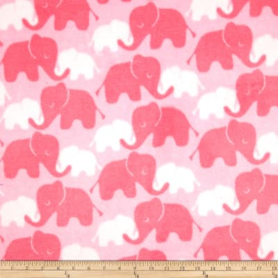 Fleece Elephants Tone on Tone Candy Pink