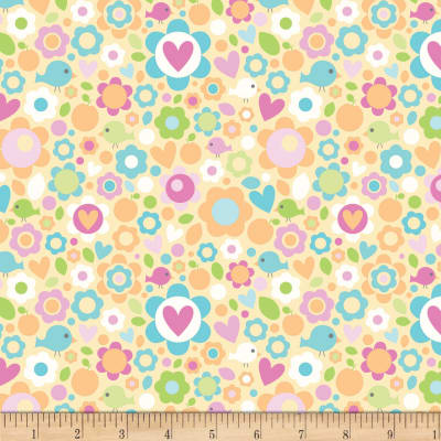 Riley Blake Sweet Home Floral Yellow