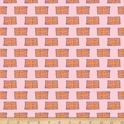 Riley Blake British Invasion British Flag Pink