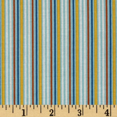 Riley Blake Rocket Age Stripes Blue